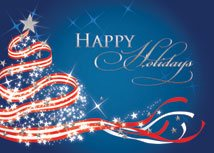 Patriotic Tree Christmas Card